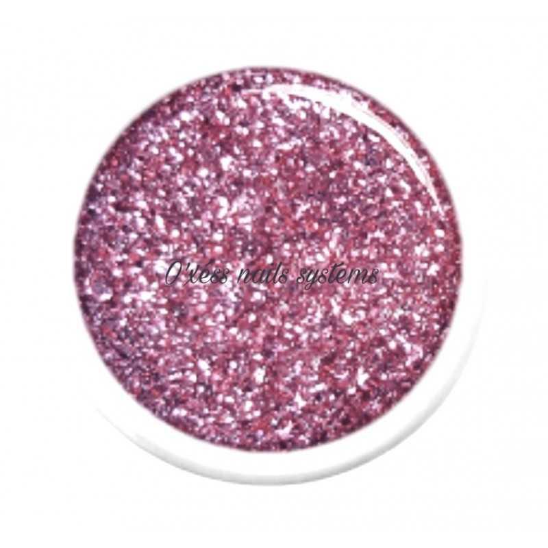 Gel couleur pailleté Shiny pink - 1930