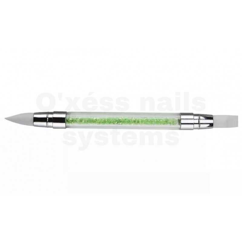 stylos silicone de sculpture vert
