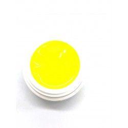 Gel art painting neon yellow