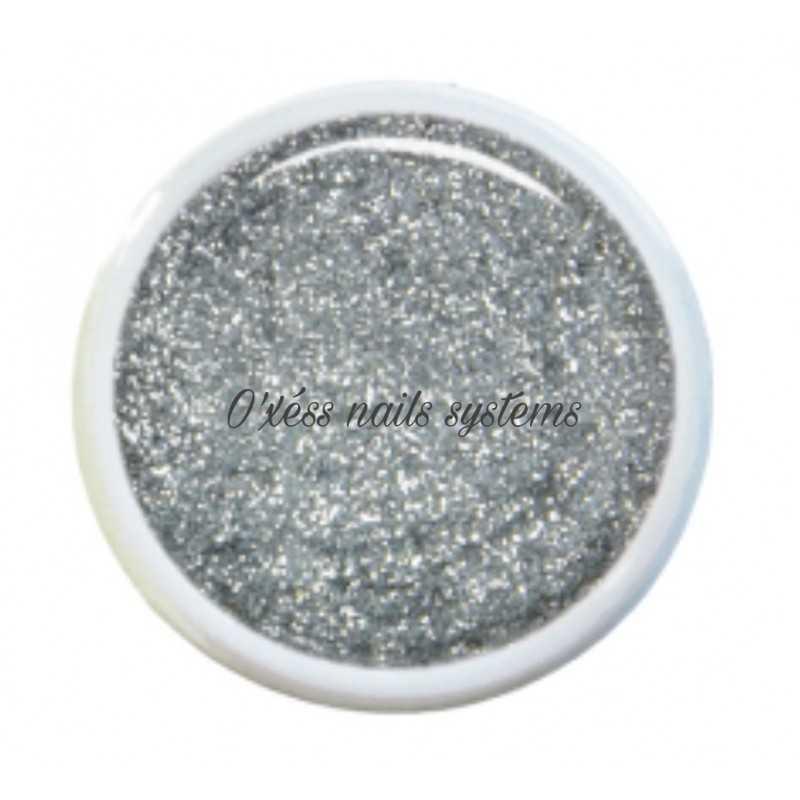 Gel couleur pailleté Silver sparkling - 1737