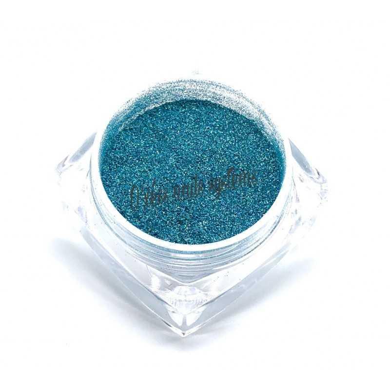 Paillettes holographique laser turquoise