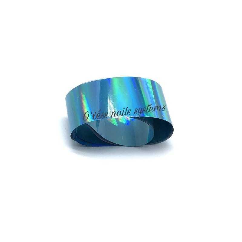 Transfer Foil turquoise holographe
